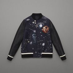 Undertake a journey through the solar system with the new #FallWinter1516 Varsity Jacket. The universe as you've never seen it before.