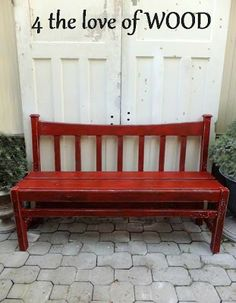 I love the idea of this. A bench built from a bed. [4 the love of wood]