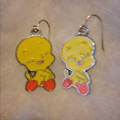Tweety Earrings Tweety Bird Earrings! Never worn!                                    🌟REASONABLE OFFERS ARE ALWAYS CONSIDERED🌟 Warner Bros Jewelry Earrings