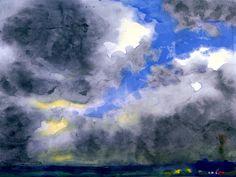 Marsh Landscape with Grey Clouds Emil Nolde
