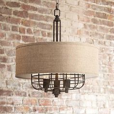 "Franklin Iron Works® Tremont 20"" Wide Rust Pendant - love this industrial look! @lampsplus"
