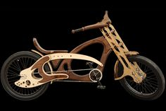 Another wooden bicycle