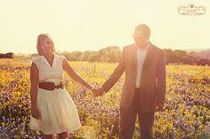 Justin and Brandi #bluebonnets #wildflowers #couple #love