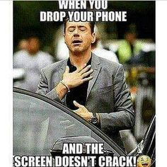 When you drop your phone... funny meme