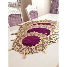 Table Covers, Bed Covers, Pillow Covers, Motifs Islamiques, Bed Cover Design, Napkin Folding, Wedding Crafts, Wall Wallpaper, Table Linens