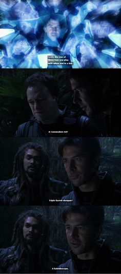 John, Rodney, and Ronon all had very different childhoods...  #stargateatlantis