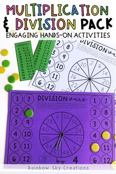 Multiplication and Division Hands on Math activities and games Grade 3 - 4 Primary Maths, Primary Classroom, School Resources, Teaching Resources, Teaching Ideas, Hands On Activities, Math Activities, Grade 3, Third Grade