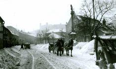 FOTO: Pozrite si vzácne fotografie, ako vyzerala Bratislava kedysi, keď poriadne nasnežilo...   Život v meste   Bratislavské noviny Bratislava, Keds, Nostalgia, Arch, Snow, Outdoor, Times, Retro, Cities