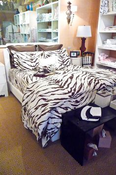 A-MAZE-ing Things: D. Porthault's Tigre in Brown! | Maze Home | #dporthault | We change the bedding with the seasons. A warm fall look here.