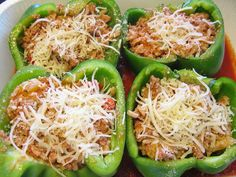 Family Fun Night Using Stuffed Peppers With Ground Beef And Rice