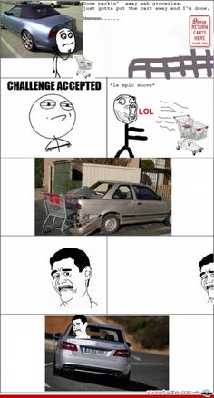 #lol.. i hate taking the cart back... and if its far..it may not make it back *shrugs*