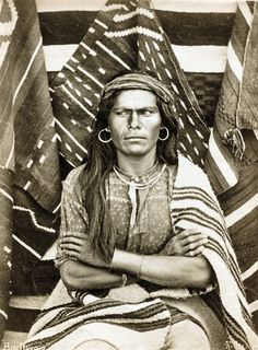 Big Navajo, Walpi, Arizona, United States, 1879, photograph by John K. Hillers.