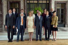 La reine Mathilde et le roi Philippe de Belgique avec leurs invités à Bruxelles, le 17 juin 2015