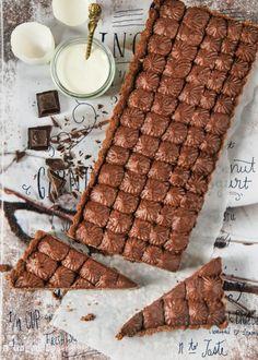 Tarta de chocolate rellena de mascarpone