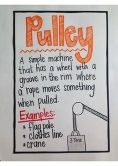SIMPLE MACHINES ANCHOR CHARTS - TeachersPayTeachers.com