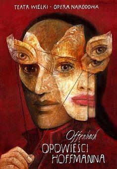 Les contes d'Hoffmann - Offenbach, Polish Opera Poster