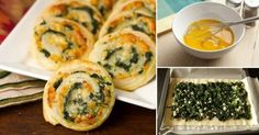 Espirales de espinaca y queso