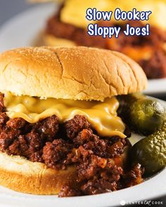 Slow Cooker Sloppy Joes. The sauce sounds yummy and these could be made on the stove If you forget to start the crock in time!