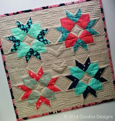 Gooba Designs: Cotton + Steel Origami Blossom Mini Quilt