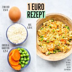 Would you like fried rice? Today a recipe from the Meal Prep  category . - Would you like fried rice? Today a recipe from the Meal Prep  category … - Rice Recipes For Dinner, Baby Food Recipes, Breakfast Recipes, Healthy Recipes, Evening Meals, Eating Plans, Organic Recipes, Meal Planning, Meal Prep