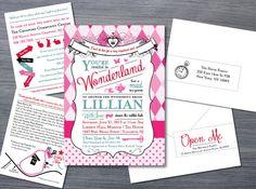 Alice in Wonderland Bridal Shower Invitation by GoodiesDesigns