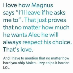 Malec, The Mortal Instruments. Sizzy, we ship you too.