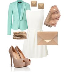 mint and nude - Polyvore