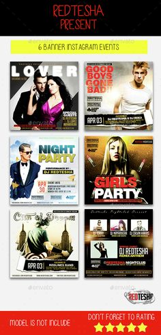 Instagram Banner Events — Photoshop PSD #banner pack #promotions • Available here → https://graphicriver.net/item/instagram-banner-events/14972143?ref=pxcr