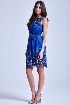 Floral chiffon maxi dress uk