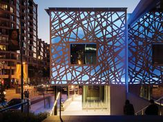 Abandoned parking garage transformed into a glowing office in San Francisco