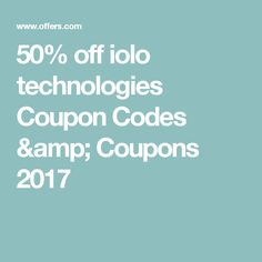 50% off iolo technologies Coupon Codes & Coupons 2017