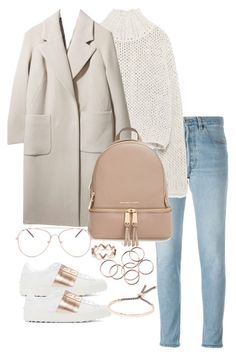 """""""Untitled #3531"""" by theeuropeancloset ❤ liked on Polyvore featuring RE/DONE, Zara, Boutique, MICHAEL Michael Kors, Valentino and Monica Vinader"""
