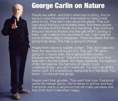 George Carlin on nature