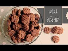 Koka sušenky. Kokosovo - kakaové sušenky - YouTube Almond, Food And Drink, Sweets, Cookies, Desserts, Anna, Youtube, Crack Crackers, Tailgate Desserts