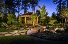 Take a look at our latest collection of outdoor designs featuring 18 Picturesque Asian Landscape Designs In Beautiful Zen Gardens. Diy Gazebo, Garden Gazebo, Backyard Gazebo, Gazebo Ideas, Asian Landscape, Garden Landscape Design, Landscape Designs, Modern Landscaping, Front Yard Landscaping