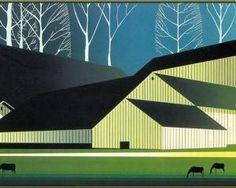 American Barns by Eyvind Earle