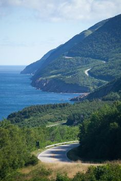 The Cabot Trail- Nova Scotia, Canada This is most beautiful highways of Canada, which is passed through the Cape Breton highlands national park and also rugged coastline that makes your journey more interesting and unforgettable. Canada is the also popula Cabot Trail, Oh The Places You'll Go, Places To Travel, Places To Visit, Nova Scotia, Ottawa, Quebec, Acadie, Alaska
