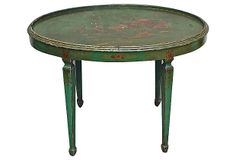 One Kings Lane - Chinoiserie Chic - Chinoiserie Hand-Painted Table Oriental Furniture, Chinoiserie Chic, Happy House, Poker Table, Outdoor Furniture, Outdoor Decor, Painted Furniture, New Homes, Hand Painted