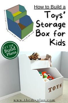 Our kid's bedroom didn't have a good storage to keep their toys organizes. So we decided to build this piece to keep their toys at least in one area. A lot of time they had their toys on the floor in a corner but now with this DIY Storage for Toys that we built will help them keep it more organized. Here are the step to build it. #diy #project #toystorage #storagebox #homeorganise #homedecor #freeplans #fun #woodworking #woodpainting #cardboard #howto #ideas Diy Furniture Plans, Diy Furniture Projects, Diy Home Decor Projects, Outdoor Projects, Garden Projects, Cardboard Storage, Toy Storage Boxes, Diy Storage, Interior Blogs