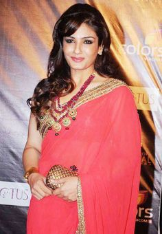 Raveena Tandon in lovely Saree and Accessories in 2012