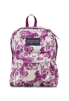 Jansport - Mochilas Superbreak Vintage Floral Canvas