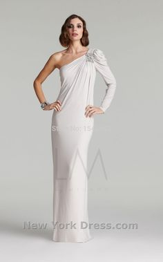 >> Click to Buy << White One shoulder Luxury Full The church PromDress Leisure fashion Big long Noble Crystal DHL Free shipping New swanky #Affiliate