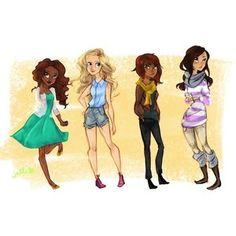 Hazel,Annabeth,Piper,Reyna
