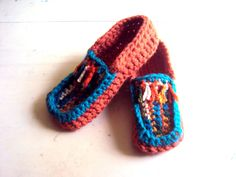 Knit and Crochet Slippers - Slippers - Slipper Socks - Handmade Shoes - Flats - Indoor Shoes - Easy on Boots - Women - Men - Fashion Accessories by GrahamsBazaar