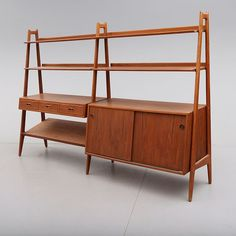 Arne Vodder; Teak Storage Unit for Vamo, 1960.