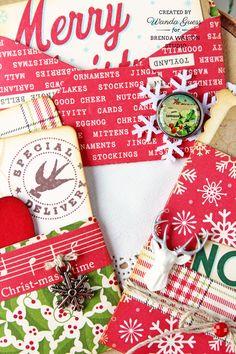 Brenda Walton Studio - project by Wanda Guess. Mini Correspondence dies from Sizzix. Christmas notes.