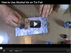 How to Use Alcohol Ink on Tin Foil: