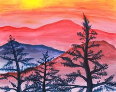 """Gather up the whole family and join us for an afternoon of creativity as we recreate the """"Mountains at Sunset"""" painting. We provide the supplies - paints, apron, brushes and a 16x20 canvas - you make the masterpiece. This is an instructor-led painting class - part technique, part fun - no experience required! Recommended for kids ages 8+. Sunday, September 8, 2013"""