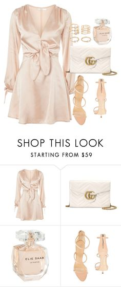 """Untitled #797"" by foreverdreamt ❤ liked on Polyvore featuring Oh My Love, Gucci, Elie Saab, Giuseppe Zanotti and Forever 21"
