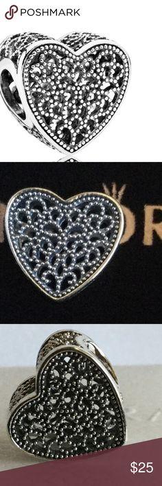 Sterling silver filled with romance Pandora charm Sterling silver filled with romance Pandora charm Pandora Jewelry Bracelets